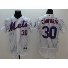 2016 MLB FLEXBASE New York Mets 30 Conforto White Jerseys