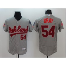 2016 MLB FLEXBASE Oakland Athletics 54 Gray Grey Fashion Jerseys