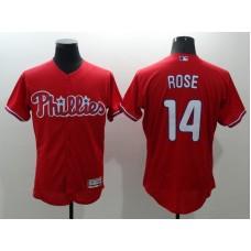 2016 MLB FLEXBASE Philadelphia Phillies 14 Rose red jerseys