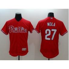 2016 MLB FLEXBASE Philadelphia Phillies 27 Nola red jerseys