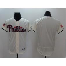 2016 MLB FLEXBASE Philadelphia Phillies Blank Cream Fashion Jerseys