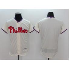 2016 MLB FLEXBASE Philadelphia Phillies Blank White Jersey