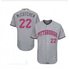 2016 MLB FLEXBASE Pittsburgh Pirates 22 McCutchen grey mother's day  jerseys