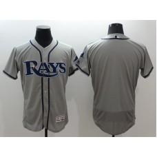2016 MLB FLEXBASE Tampa Bay Rays blank grey jerseys