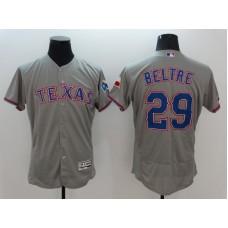 2016 MLB FLEXBASE Texas Rangers 29 Beltre Grey Jersey