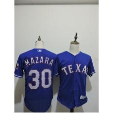 2016 MLB FLEXBASE Texas Rangers 30 Mazara Blue Elite Jerseys