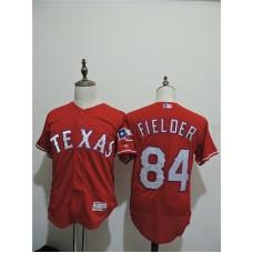 2016 MLB FLEXBASE Texas Rangers 84 Prince Fielder Red Elite Jerseys