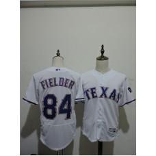 2016 MLB FLEXBASE Texas Rangers 84 Prince Fielder White Elite Jerseys