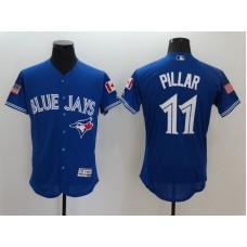 2016 MLB FLEXBASE Toronto Blue Jays 11 Pillar Blue Fashion Jerseys