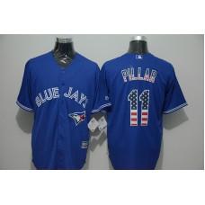 2016 MLB FLEXBASE Toronto Blue Jays 11 Pillar blue jersey