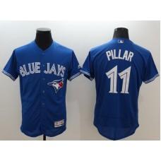 2016 MLB FLEXBASE Toronto Blue Jays 11 Pillar blue jerseys
