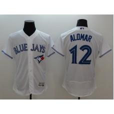 2016 MLB FLEXBASE Toronto Blue Jays 12 Alomar white jerseys