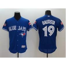 2016 MLB FLEXBASE Toronto Blue Jays 19 Bautista Blue Fashion Jerseys