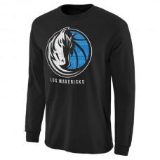 2016 NBA Dallas Mavericks Noches Enebea Long Sleeve T-Shirt - Black