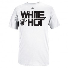 2016 NBA adidas Miami Heat White Hot Playoffs Slogan T-Shirt - White