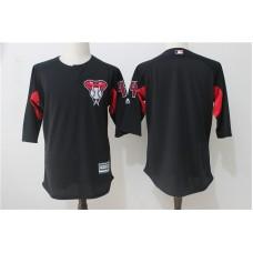2017 MLB Arizona Diamondbacks 44 Black Practice clothes Jerseys