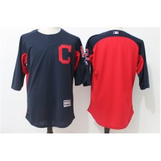 2017 MLB Cleveland Indians 12 Blue Practice clothes Jerseys