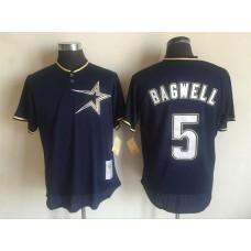 2017 MLB Houston Astros 5 Jeff Bagwell Blue Throwback Jerseys