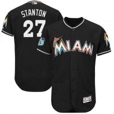 2017 MLB Miami Marlins 27 Stanton Black Jerseys