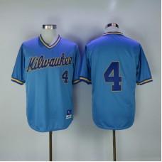 2017 MLB Milwaukee Brewers 4 Paul Molitor Blue Throwback Jerseys