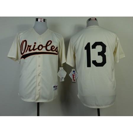 MLB Baltimore Orioles 13 Manny Machado 1954 Turn Back The Clock Jersey