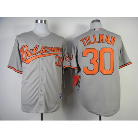 MLB Baltimore Orioles 30 Tillman Grey Jerseys