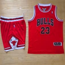 2016 NBA Chicago Bulls 23 Michael Jordan Red Jersey With Shorts