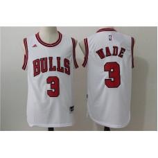 2016 NBA Chicago Bulls 3 Wade White Jerseys