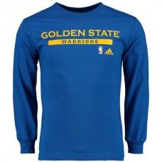 2016 NBA Golden State Warriors adidas Cut and Paste Long Sleeve T-Shirt - Royal