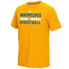 2016 NBA Golden State Warriors adidas On-Court Climalite Ultimate T-Shirt - Gold