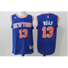 2016 NBA New York Knicks 13 Noah blue jerseys