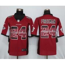 2016 New Nike Atlanta Falcons 24 Freeman Red Strobe Limited Jersey