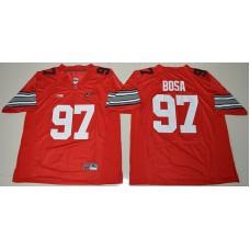 2015 Ohio State Buckeyes Joey Bosa 97 Diamond Quest College Football Red Jersey