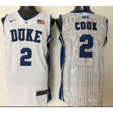 2016 NBA NCAA Duke Blue Devils 2 Cook White Jerseys 1