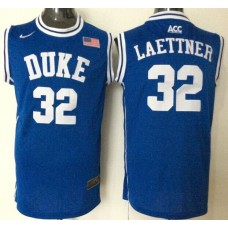2016 NBA NCAA Duke Blue Devils 32 Laettner Blue Jerseys
