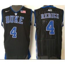 2016 NBA NCAA Duke Blue Devils 4 Redick Black Jerseys