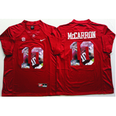 2016 NCAA Alabama Crimson Tide 10 Mccarron Red Limited Fashion Edition Jerseys