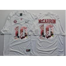 2016 NCAA Alabama Crimson Tide 10 Mccarron White Fashion Edition Jerseys