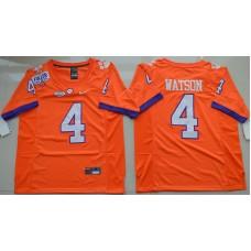 2016 NCAA Clemson Tigers 4 DeShaun Watson Orange College Football Limited Jersey