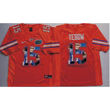 2016 NCAA Florida Gators 15 Tebow Orange Fashion Edition Jerseys
