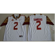 2016 NCAA Florida State Seminoles 2 Deion Sanders White College Football Limited Jersey