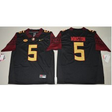 2016 NCAA Florida State Seminoles 5 Jameis Winston Black College Football Limited Jersey