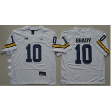 2016 NCAA Jordan Brand Michigan Wolverines 10 Tom Brady White College Football Limited Jersey