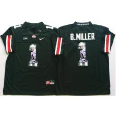 2016 NCAA Ohio State Buckeyes 1 B.Miller Black Fashion Edition Jerseys