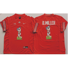 2016 NCAA Ohio State Buckeyes 1 B.Miller Red Fashion Edition Jerseys2