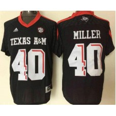 2016 NCAA Texas A&M Aggies 40 Miller Black Jerseys