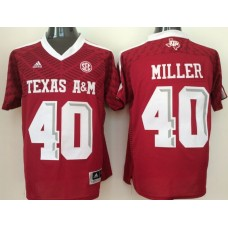 2016 NCAA Texas A&M Aggies 40 Miller red jerseys
