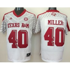 2016 NCAA Texas A&M Aggies 40 Miller white jerseys