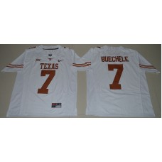 2016 NCAA Texas Longhorns 7 Shane Buechele White College Football Limited Jersey