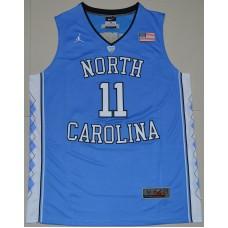 2016 North Carolina Tar Heels Brice Johnson 11 College Basketball Jersey - Carolina Blue